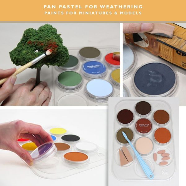 PanPastel Weathering Kits 7 Colours Paint for Miniatures and Models with tools