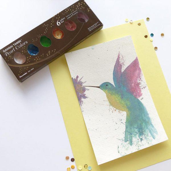 Kuretake GANSAI TAMBI-Traditional Japanese watercolour PEARL 6 COLOURS