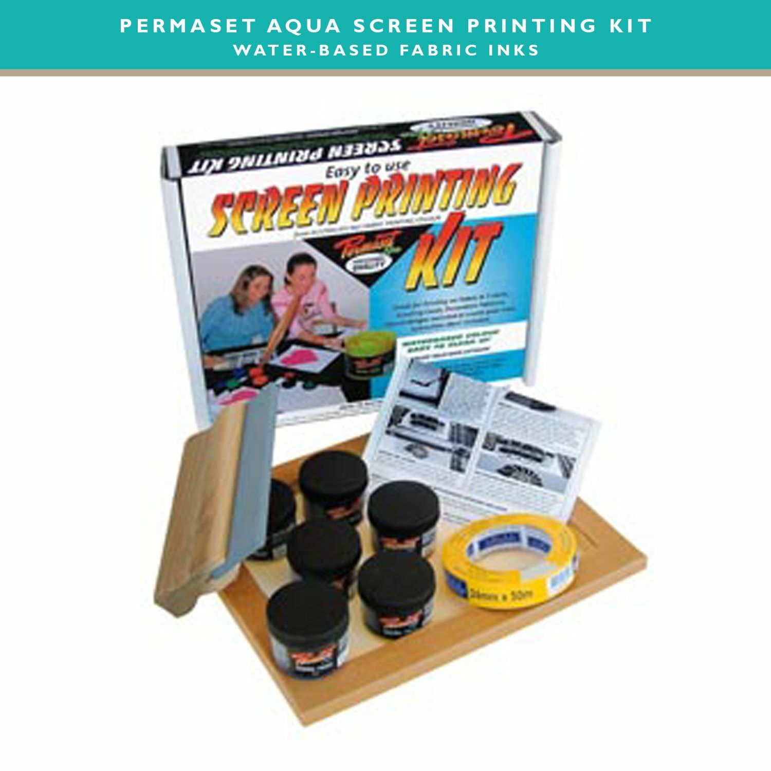 Permaset aqua screen printing kit