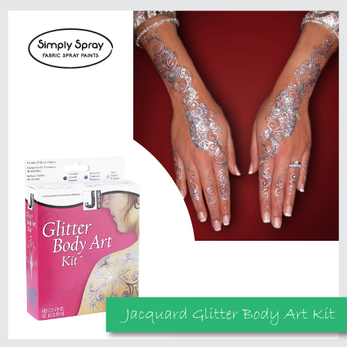 Jacquard Glitter Body Art Kit Non-permanent Body Art Shimmery tattoo