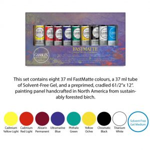 Gamblin Gift Introductory Sets - Fastmatte set - 9 colours 37ml tubes