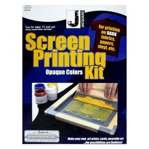 jacquard Opaque Colors screenprinting kit - screen printing