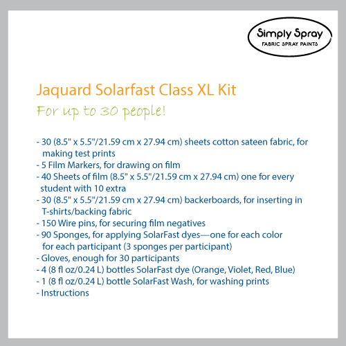 Jacquard Solarfast Class Kit-Photographic art prints with sunlight