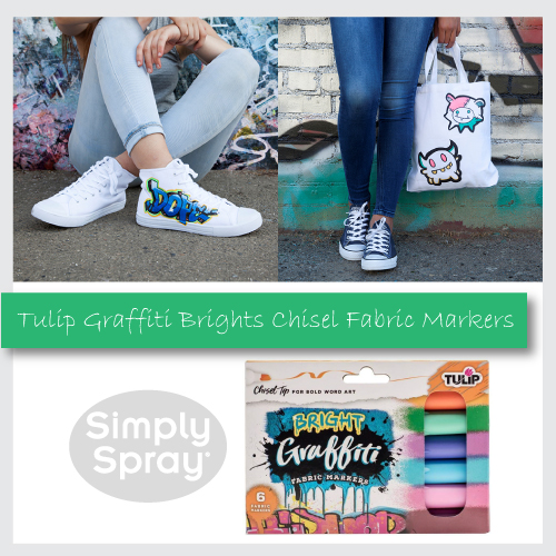 Tulip Graffiti Fabric Markers Brights 6 pk
