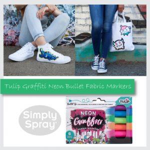 Tulip Graffiti Fabric Markers Neon 6 pk