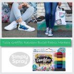 Tulip Graffiti Fabric Markers Rainbow 6 pk