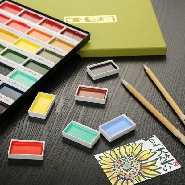Kuretake GANSAI TAMBI-Traditional Japanese Watercolour Sets