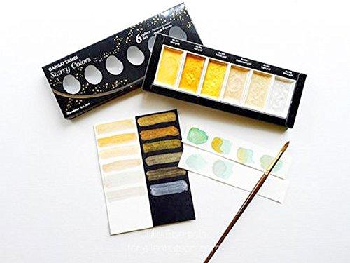Kuretake GANSAI TAMBI-Traditional Japanese watercolour STARRY 6 COLOURS