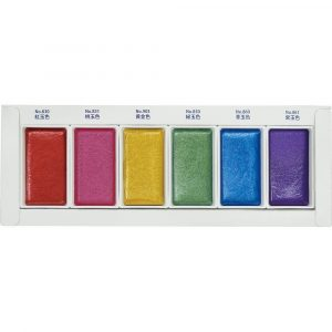 Kuretake GANSAI TAMBI-Traditional Japanese watercolour GEM 6 COLOURS