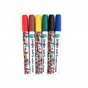 Tulip Graffiti Fabric Markers Rainbow 6 pk