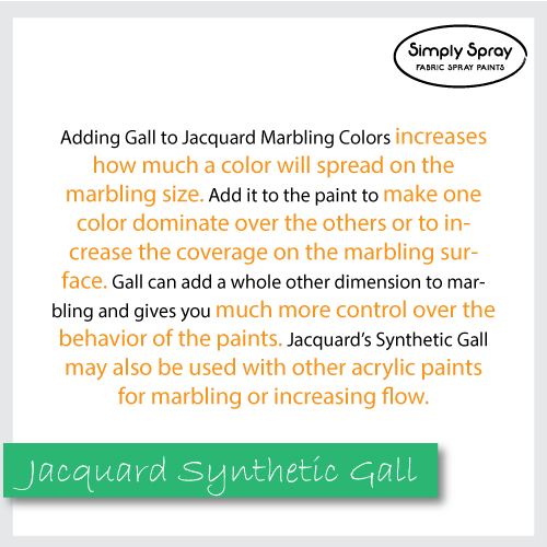 Jacquard Synthetic Gall to spread more colour on the marbling