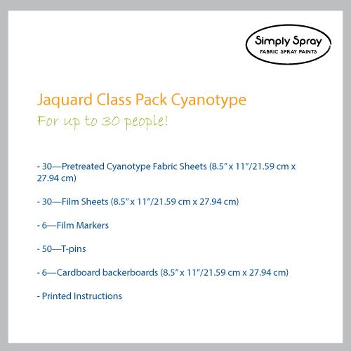 jacquard cyanotype class kit