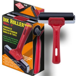 ESSDEE Ink Roller - 100 mm Roller / Brayer RED