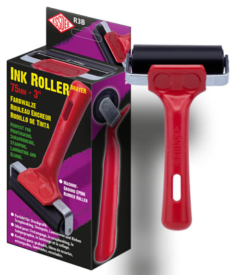 ESSDEE Ink Roller - 75 mm Roller Brayer RED