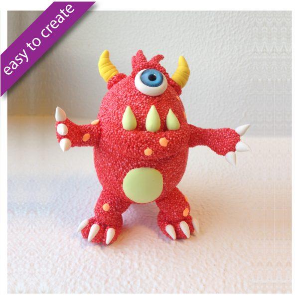 Silk Foam Clay Diy Ugly Monsters Red P 02 9550 1544