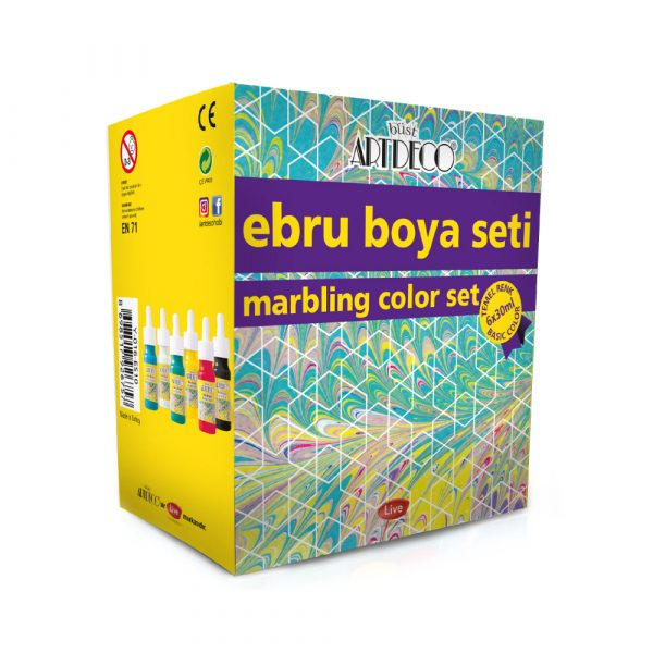 Marbling Set 6 Colours Basic