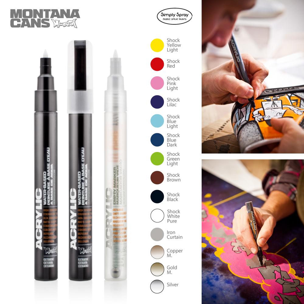 Montana acrylic markers 0.7mm