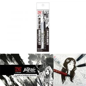 Zig Black & White Ultra Fine Set